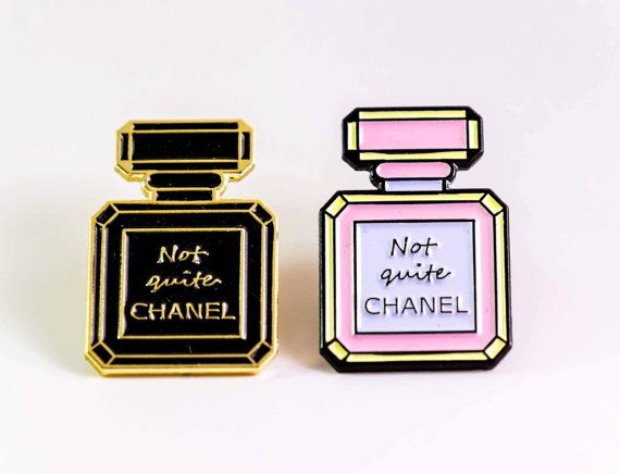 Not Quite Chanel Enamel Pin Badge by RadAndRaw on Etsy