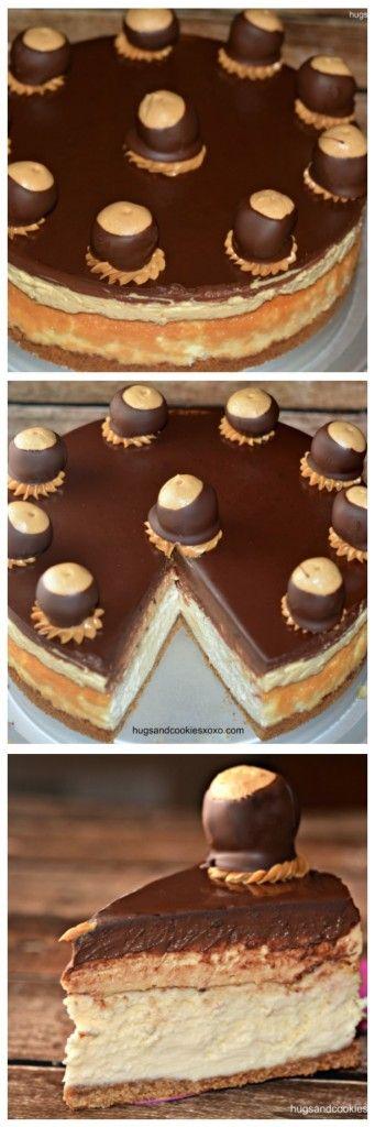 Buckeye Cheesecake - Hugs and Cookies XOXO