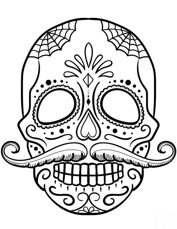 Desenho De Caveira Com Bigode Desenho Caveira Tatuagem Caveira