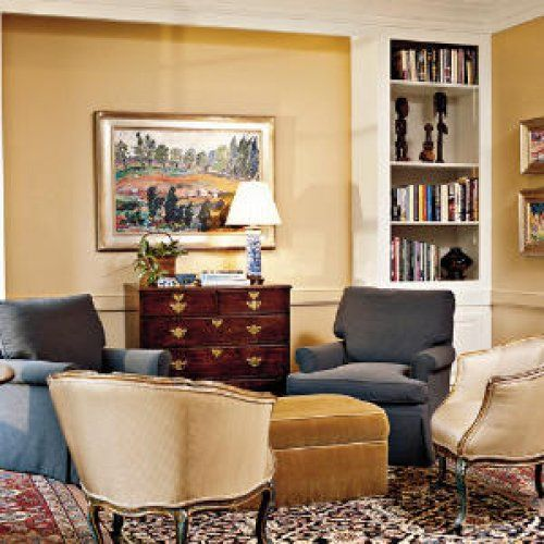 no sofa living room design look there s no sofa southern living and ottomans 20014