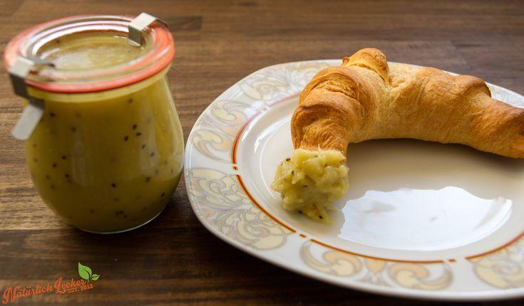 Südseetraum - Hier seht ihr ein leckeres Konfitüre Rezept aus exotischen Früchten. Ananas, Kiwi und Kokosmilch ergeben eine wirklich leckere Kombination und machen das Frühstück zu einem Erlebnis.