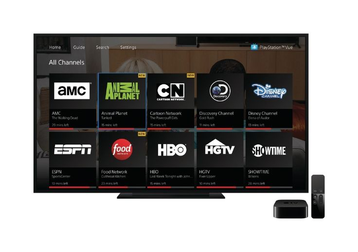 Sonys cable replacement service PlayStation Vue is now available for Apple TV.