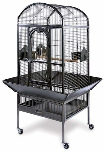 FREE Shipping! The Small Dome Top Cockatiel Cage has a roomy dome top design to give birds space to stretch their wings. The unique 2-in-1 front door opens down as a landing-style door or swings out f