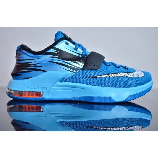 The Nike KD 7 CLEARWATER release date is just a week away, the shoe mixing  navy patterns with a paler blue \u0027Posite and mesh, and orange Zoom Air unit.