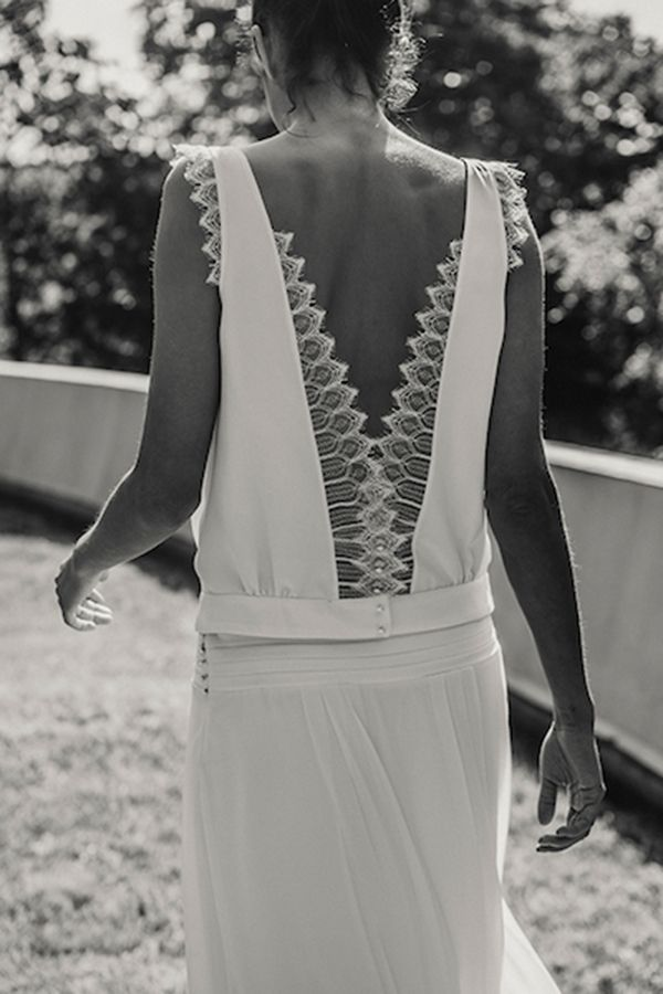 modern wedding dress laure de sagazan