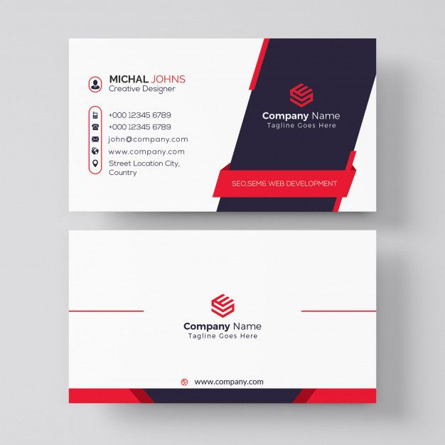 Professional Red And Black Business Card Design Business Card Design Business Card Design Black Company Business Cards