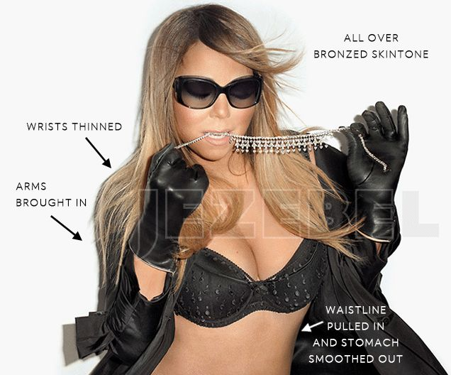 Queen of the Naija Blog: Is it right to expose Mariah Carey photoshop body?... #Entertainment #celebrity #celebrities