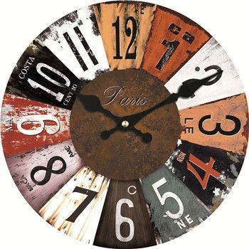 Colorful Classic Wall Clocks 3 Sizes 4 Designs