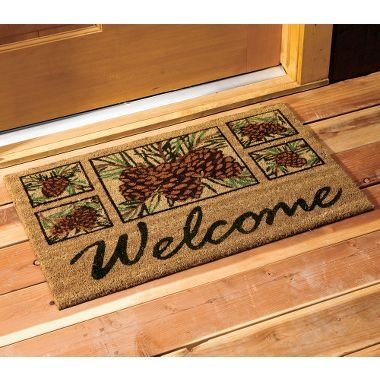 cute fallwinter welcome mat