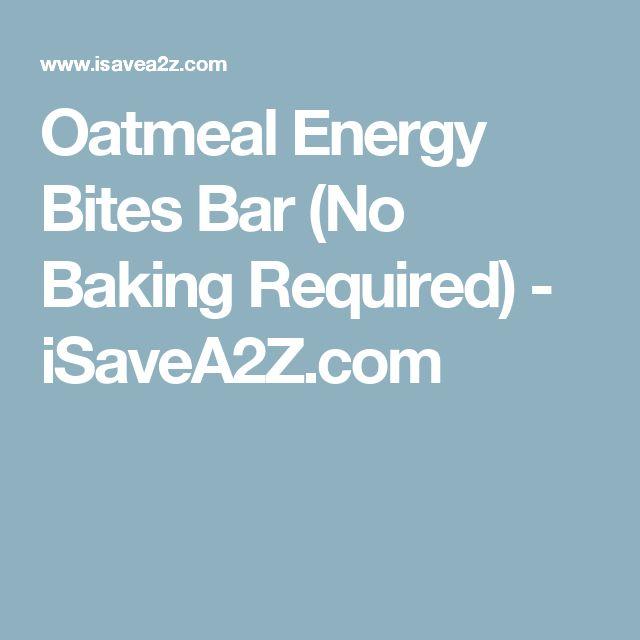 Oatmeal Energy Bites Bar (No Baking Required) - iSaveA2Z.com