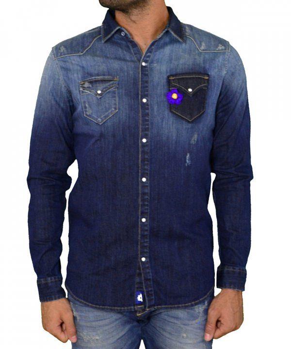 3bcaec69c00a Ανδρικό τζιν πουκάμισο Cosi μπλε 50LARGO1  ανδρικάπουκάμισα  ρούχα  στυλ   ντύσιμο  άνδρας