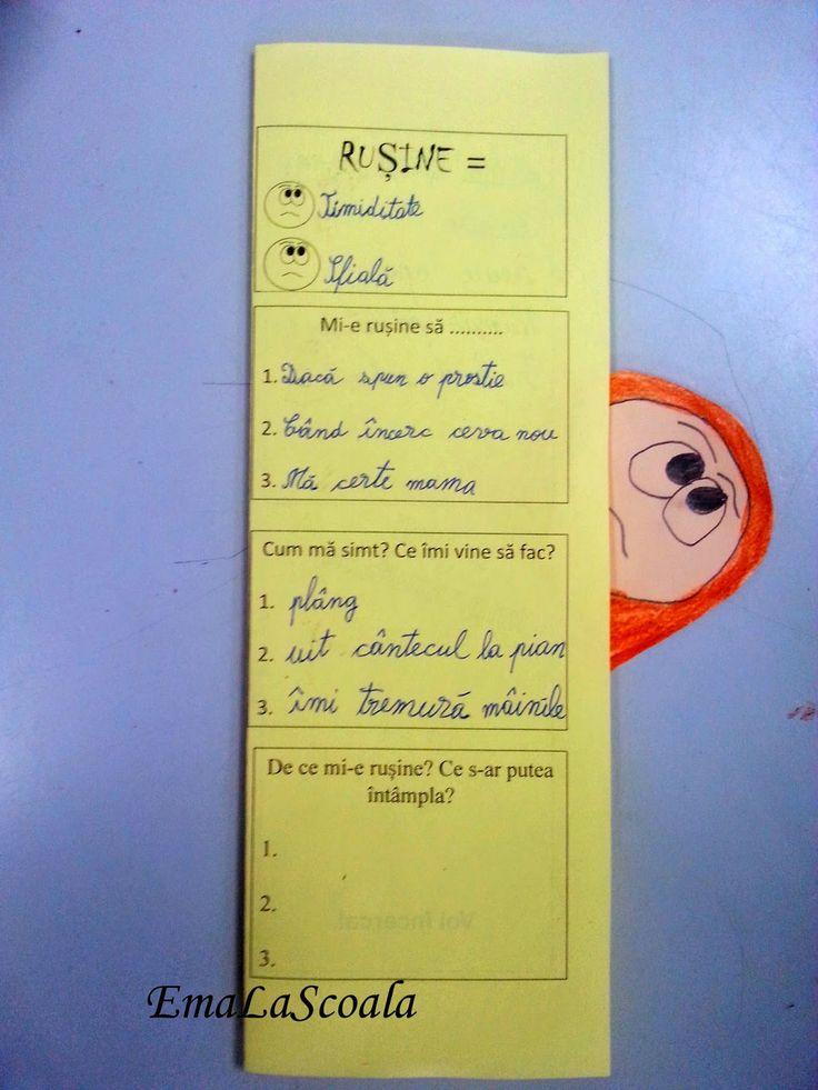 Ema la scoala: Rusinea - gestionarea emotiilor