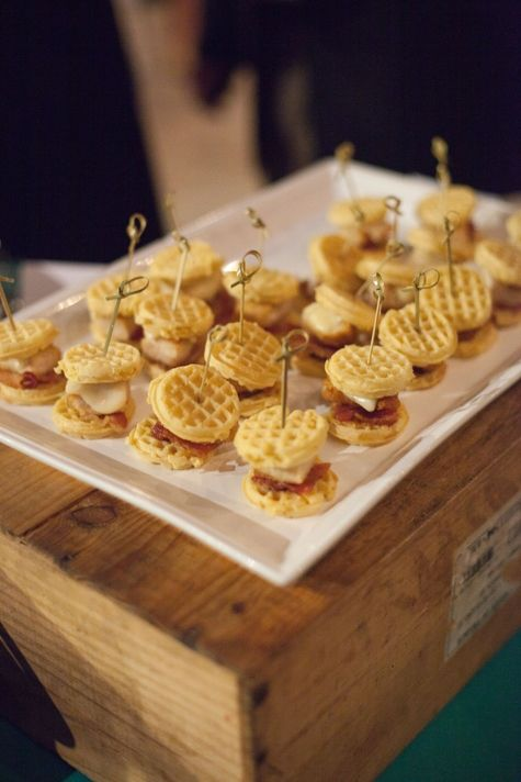 Mini chicken and waffles | Ava Moore Photography