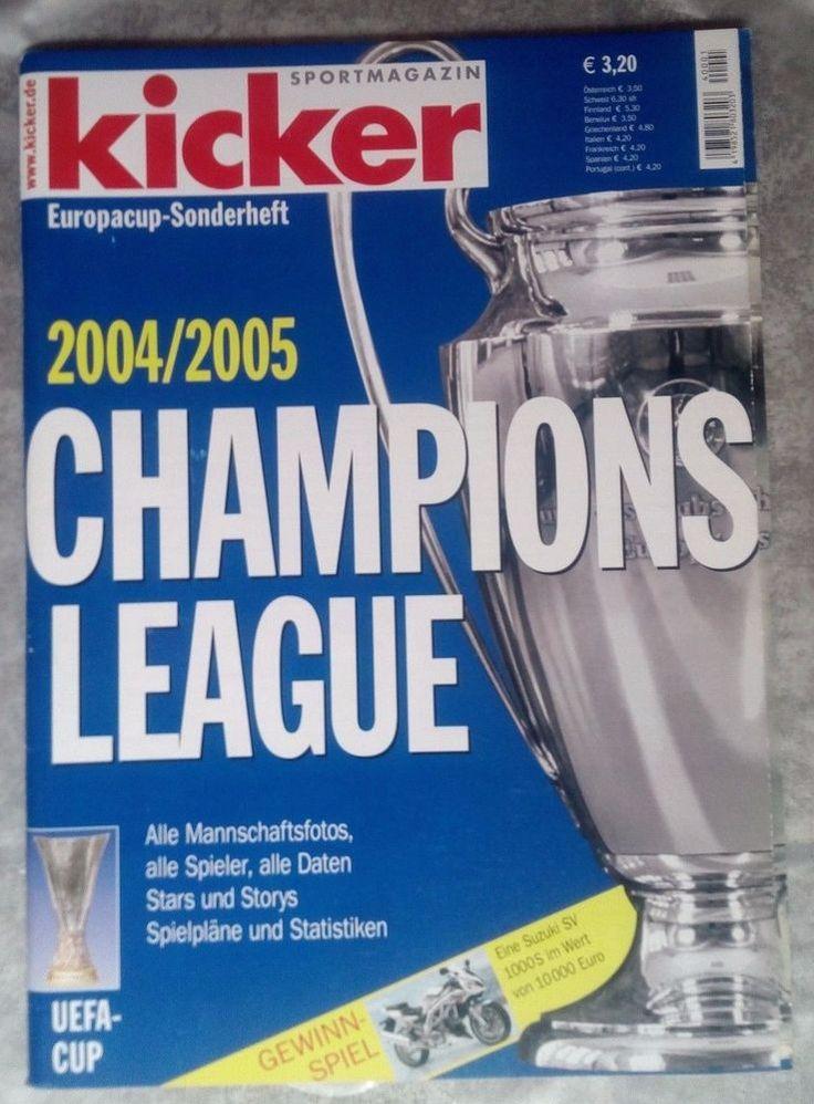 """Kicker! EUROPA ~ CUP !SONDERHEFT! """" CHAMPIONS LEAGUE 2004/05 """" !NEU!"""