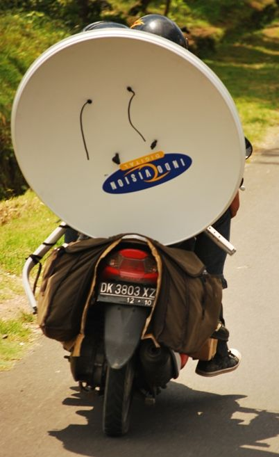 Bali Scooter with Satellite Dish in Indonesia! | The Travel Tart Blog