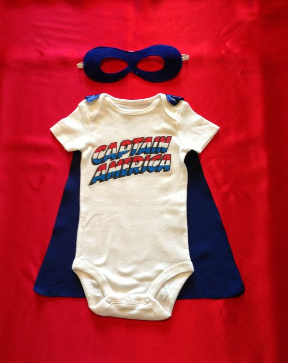 Captain America Superhero Baby Outfit with by JustKidnDesigns, $25.00