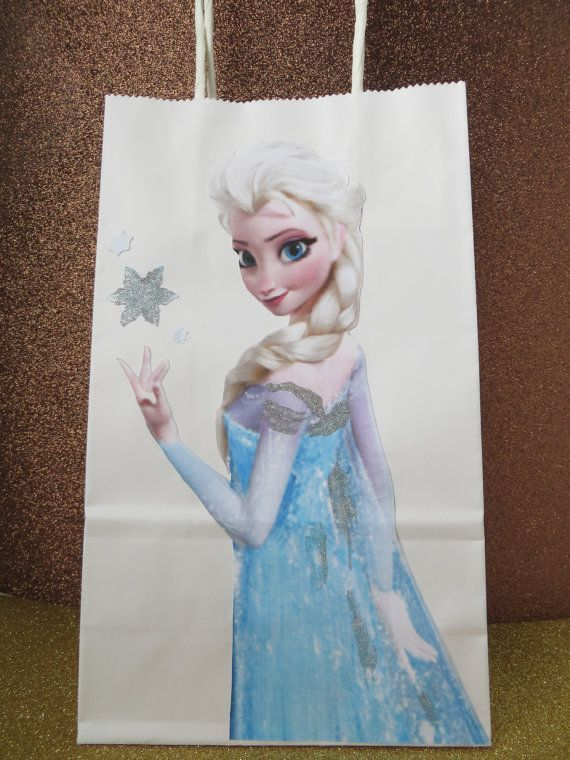 Frozen gift bag  frozen goody bag elsa treat bag by CuddleCute