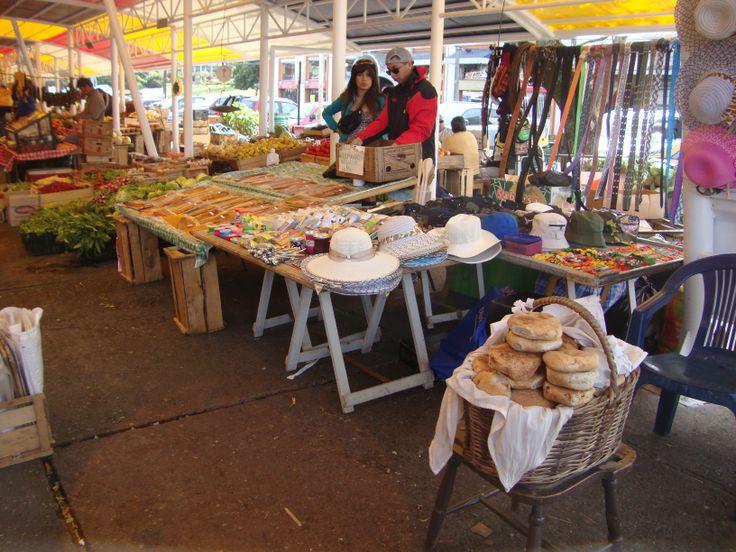 productos naturales en feria fluvial de Valdivia.2013