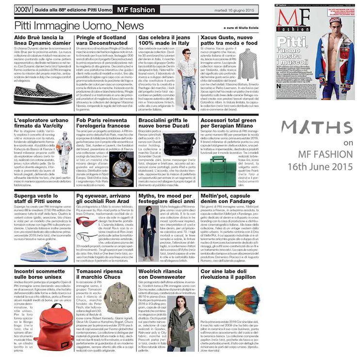 ‪#‎Press‬ // my ‪#‎Myths‬ first ten years celebrated by MF Fashion Designer!