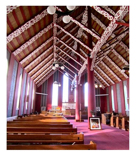 Interior of Rangiatea Church, Otaki (built 1849).