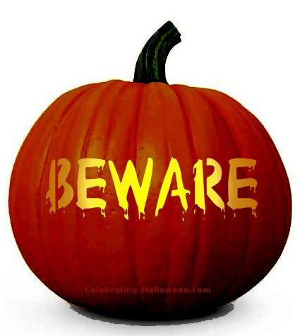 Halloween Beware Pumpkin