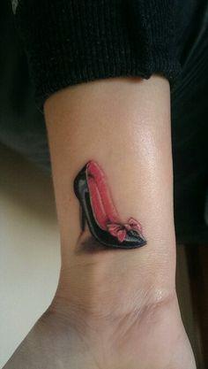my new high heel tattoo on my wrist more high heel tattoos idea ish ...