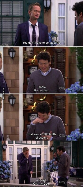 HIMYM... Wow... but I love Barney's initial reaction compared to his final reaction