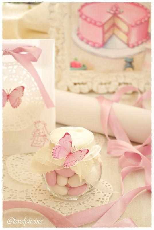 Butterfly favor & table decoration idea - papillon{Butterflies and sweet bon bon}