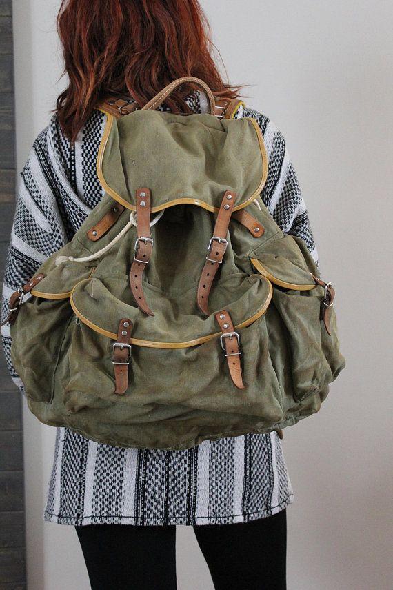 Sac à dos toile, sac canevas, sac a dos militaire, sac armature métalique, sac voyage, sac globe trotter, sac armée, sac hipster, sac kaki