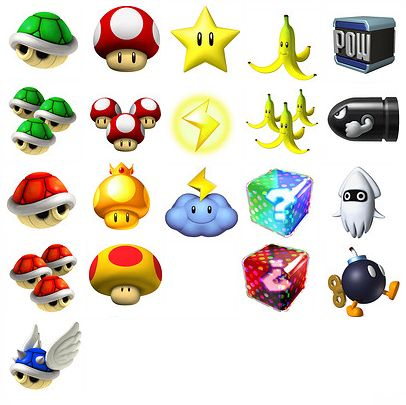 Mario Kart Wii Items photo: All Item from Mario Kart Wii Originized by me This photo was uploaded by Pikachutwo2