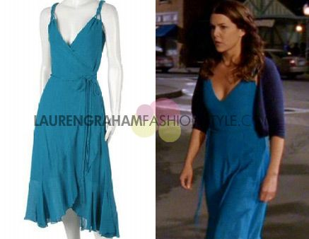 Diane von Furstenberg / Gilmore Girls / 6.22 - Partings / 2006 /Nicole Wrap dress in Turquoise