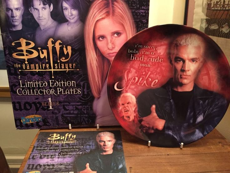 Spike Buffy the Vampire Slayer collectors plate series 1 Christmas Gift Idea #CharacterCardsInc