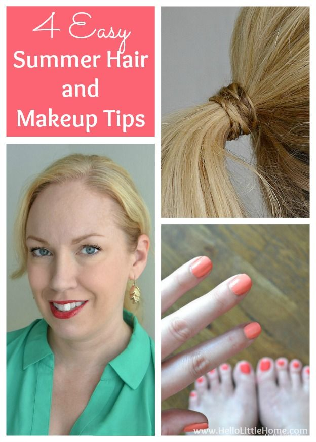 4 Easy Summer Hair and Makeup Tips
