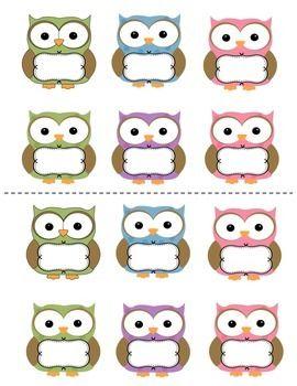 JOB CARDS: OWL THEME - TeachersPayTeachers.com