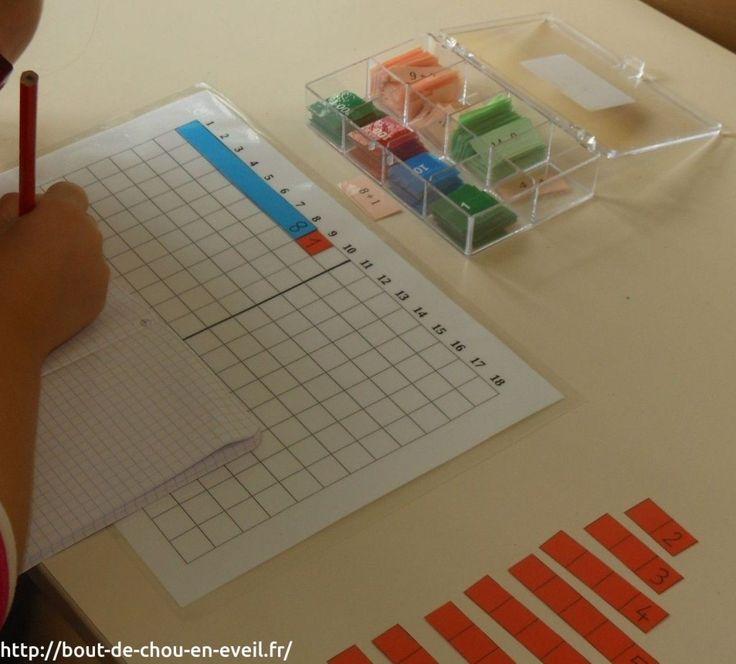 Activité Montessori pour mémoriser les tables d'addition | Bout de chou en éveil