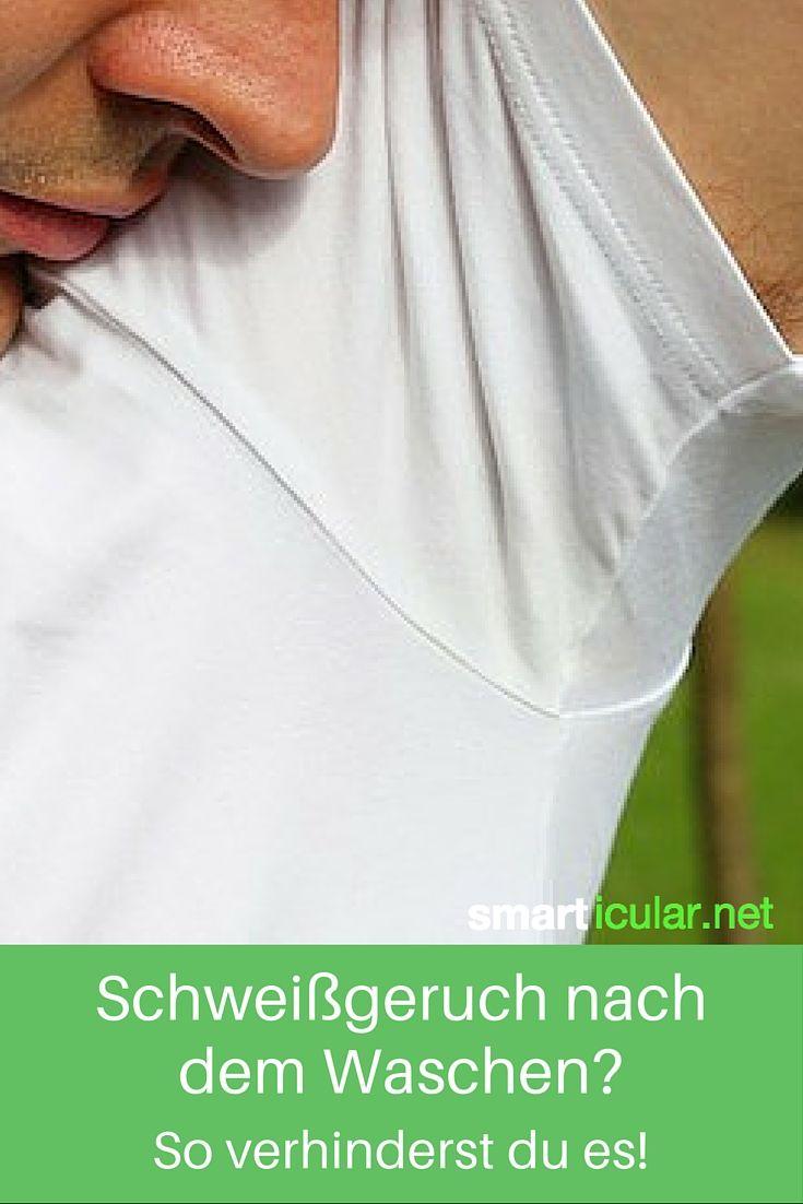 T-Shirts, Hemden und Blusen stinken selbst nach dem Waschen nach Schweiß? Nicht mit diesem Trick!