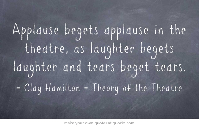 And on and on...  #theatre #quotes