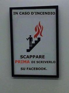 Scappare Prima di scriverlo su Facebook !!!!