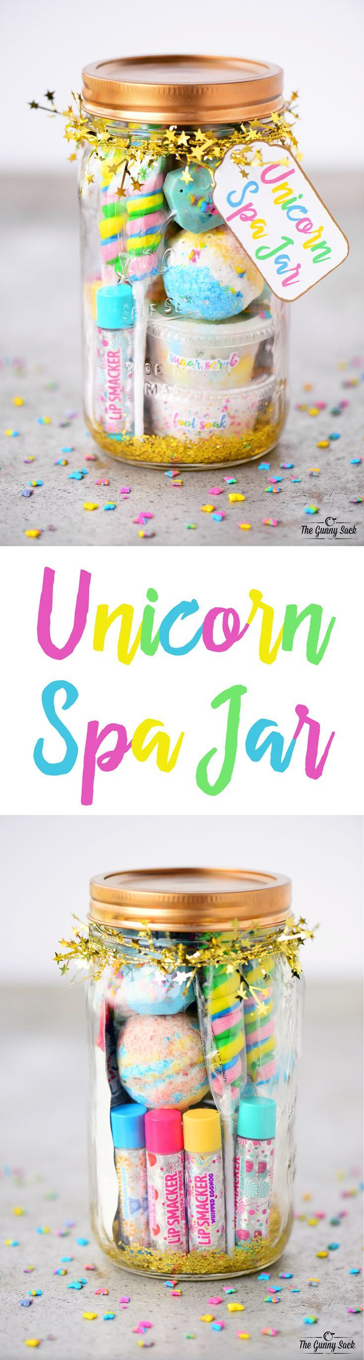 This Unicorn Spa Jar Is For The Girly Girls Your Life Who Love All Things Sparkly And Colorful They Can Use Fun Gift In A To Have