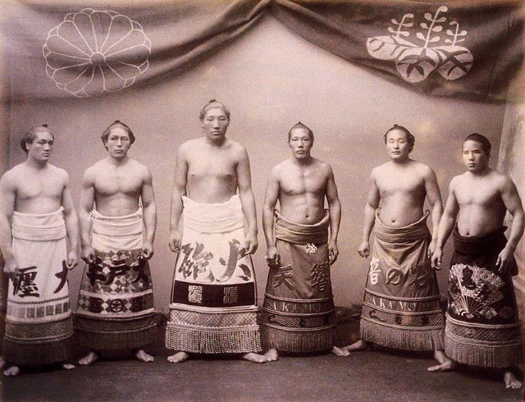 Sumo wrestlers, ca. 1890