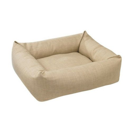 MicroLinen Dutchie Bolster Dog Bed — Flax