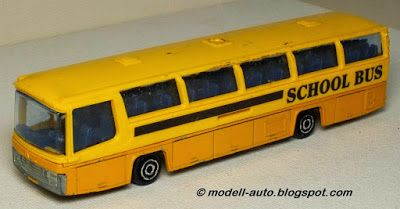 Majorette France Neoplan School Bus Schulbus 1:87 1985 Decals