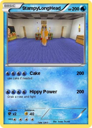 pictures+of+stampylonghead | Pokémon StampyLongHead 15 15 - Cake - My Pokemon Card - For more rad minecraft stuff check out minecrafttoystore.com