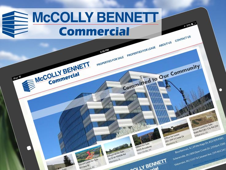 creGROW Commercial Real Estate Website Client: McColly Bennett Commercial (IL/IN) http://McCollyBennettCommercial.com