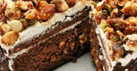 Krokanlı Kek