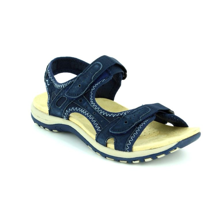 24123/70 TYLER summer sandals from Earth Spirit in navy. Get them in store or online at www.Beggshoes.com