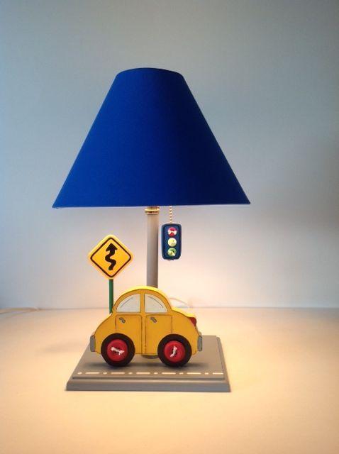 Lampara para cuarto de niño carro amarillo semáforo señal de tránsito