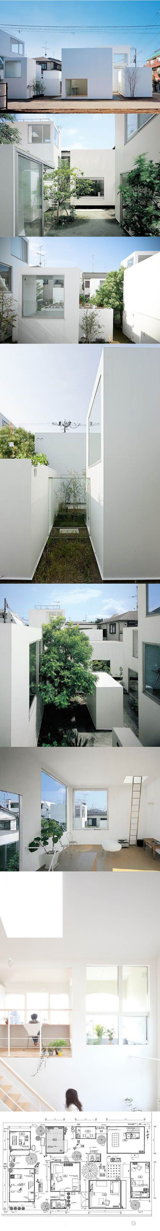 2002-2005 Sanaa - Moriyama House / Tokyo Japan / white / minimalism