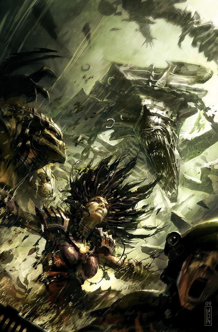 Alien vs. Predator: Three World War - Raymond Swanland