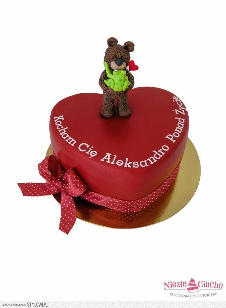 Serce, misiu, serduszko, tort z sercem, tort dla zakochanych, tort w kształcie serca, wyznanie miłości, zakochani, Tarnów